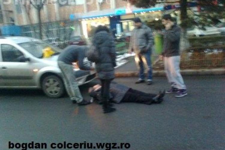 Accident in Zorilor pe strada Pasteur! O femeie a fost lovita de o masina FOTO