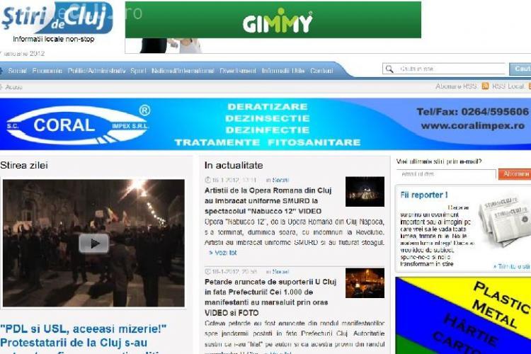 Stiri de Cluj, lider pe piata cu aproape 20.000 de cititori unici! Clujenii au citit AICI despre REVOLUTIA din Unirii VA MULTUMIM