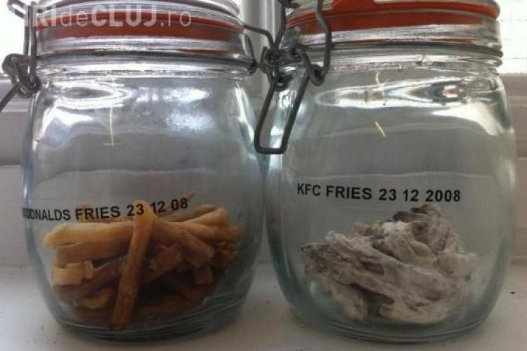 Cum arata cartofii prajiti McDonald's si KFC dupa 3 ani de la cumparare