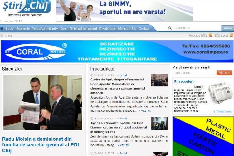 Stiri de Cluj, nou RECORD DE TRAFIC in Cluj! 16.718 de cititori unici, marti, 10 ianuarie - VA MULTUMIM