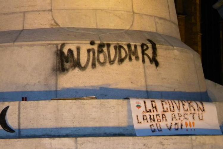 Presedintele UDMR Cluj, despre vandalizarea statuii lui Matei Corvin: Este infractiune