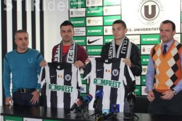 U Cluj si-a prezentat noile achizitii. Cristescu: Abia astept meciul cu CFR