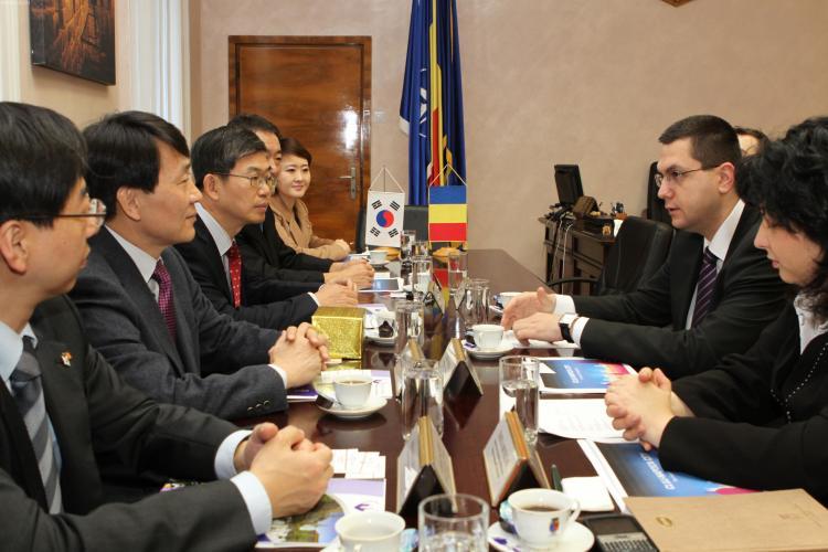 Delegatie coreeana in vizita la Primaria Cluj-Napoca
