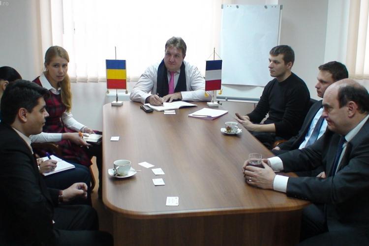 Delegatie franceza la Consiliul Judetean Cluj