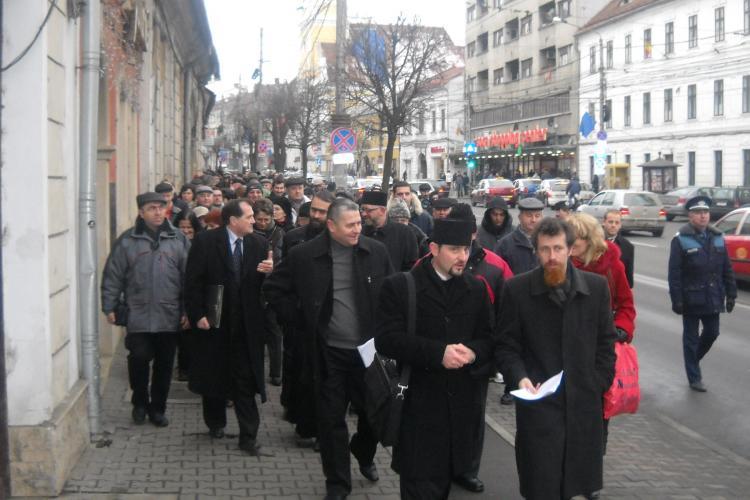 S-a incercat boicotarea protestului impotriva crematoriului din Manastur