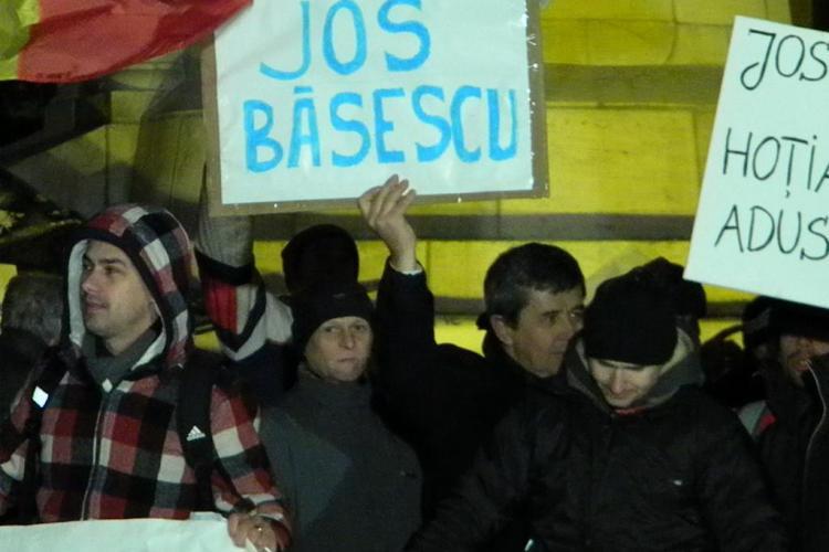 "Scandarile suporterilor in Piata Unirii: ""M..e Basescu!""! Protestul s-a terminat si se reia luni, de la ora 19.00 VIDEO"