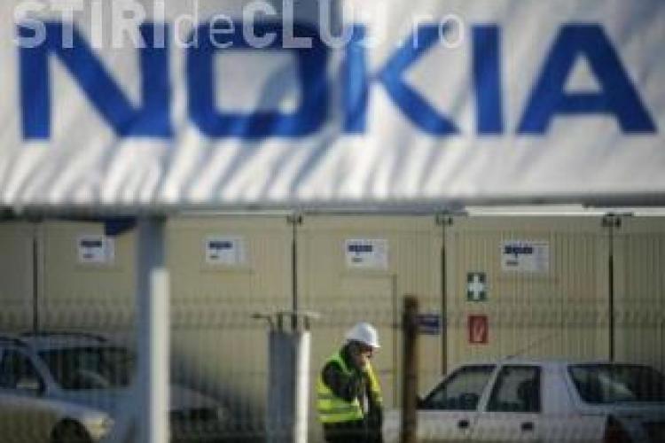 Angajatii Securitas, firma de paza de la Nokia, au protestat in fata ITM Cluj