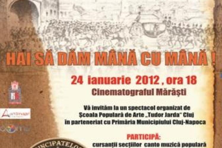 Consiliul Judetean Cluj organizeaza un spectacol de Ziua Unirii Principatelor Romane