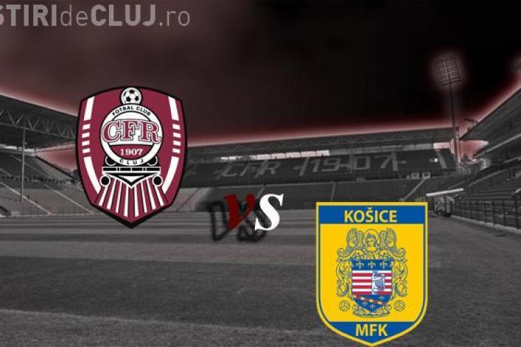 CFR Cluj joaca joi, 9 februarie, cu MFK Kosice, locul 10 in Slovacia