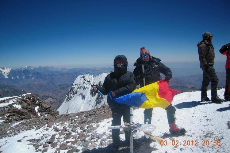 Record clujean pe Aconcagua! Vasile Cipcigan, Ciprian Patrascu si Eugen Olariu au urcat la 6962 de metri Galerie FOTO