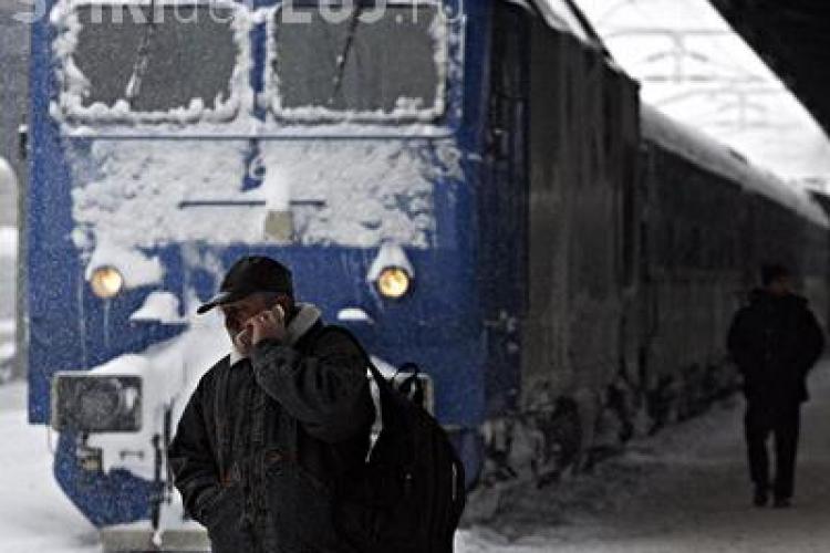 Un tren Bucuresti - Cluj, anulat, iar alte doua au intarzieri de sute de minute