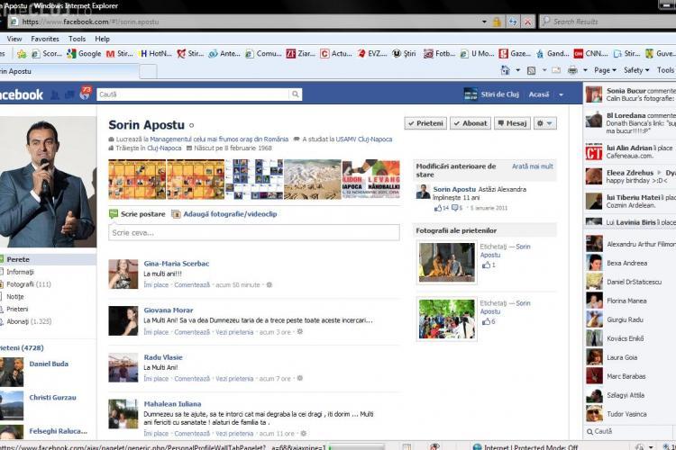 Avocatii lui Sorin Apostu: Peste 300 de clujeni i-au urat La multi ani pe Facebook