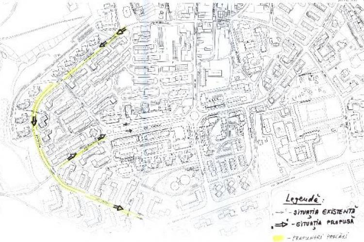 Primaria propune sens unic pe strada Gheorghe Dima! Vezi aici cum se va circula