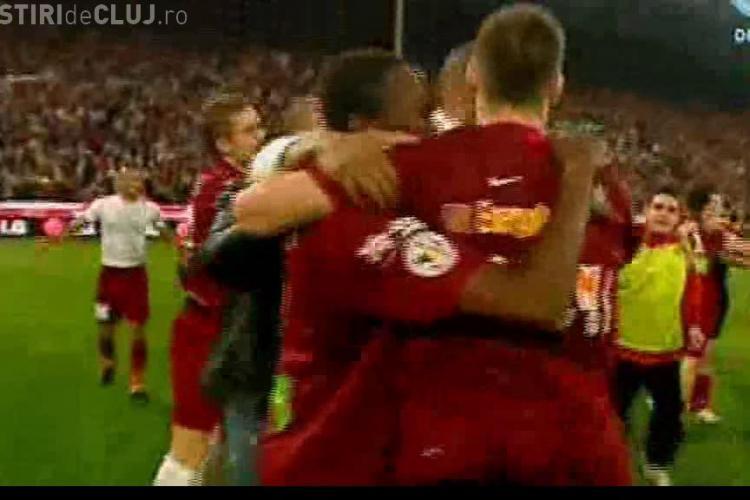 VIDEO - CFR Cluj este Campioana Romaniei la fotbal - Vedeti bucuria si golurile de aur inscrise de Bud si Deac