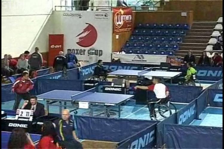 La Cluj a inceput Turneul International de Tenis de Masa pentru Persoane cu dizabilitati- VIDEO