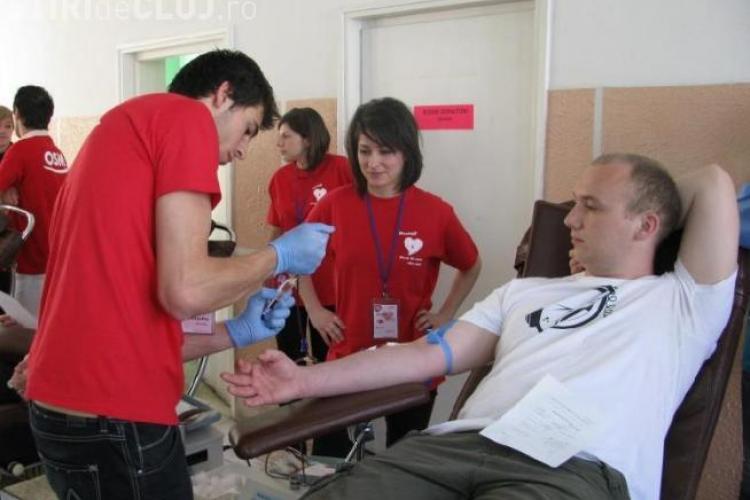 Clujenii au donat aproape 250 de litri de sange, in cadrul campaniei studentilor medicinisti, din perioada 4 - 7 mai