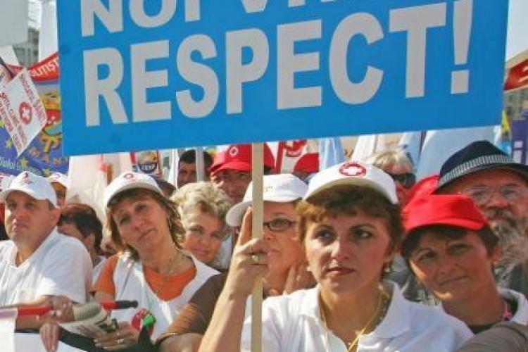 Sindicalistii organizeaza miercuri la Cluj in Piata Lucian Blaga un miting la care sunt asteptati 10.000 de oameni