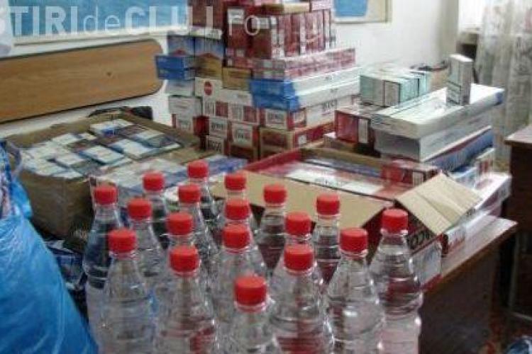 70.000 de tigari de contrabanda si 600 de litri de alcool confiscate  de politistii din Cluj