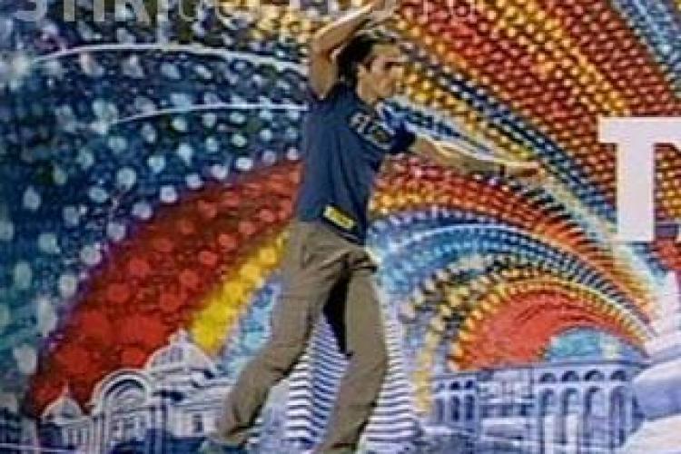 Romanii au talent! Florin Limbovici a dansat raggae pe sfoara VIDEO