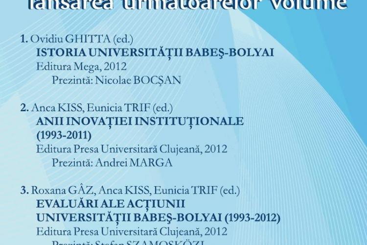 UBB lanseaza luni, de la ora 11:00, patru volume