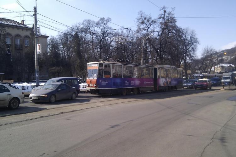 Pe strada Horea se circula cu restrictie din cauza modernizarii liniei de tramvai