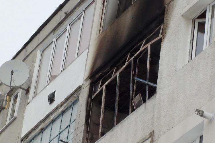 Incendiu pe strada Orizont din Dej! Un bloc a fost evacuat