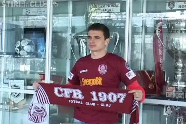Liviu Ganea a semnat contractul cu CFR Cluj chiar de ziua lui! VIDEO