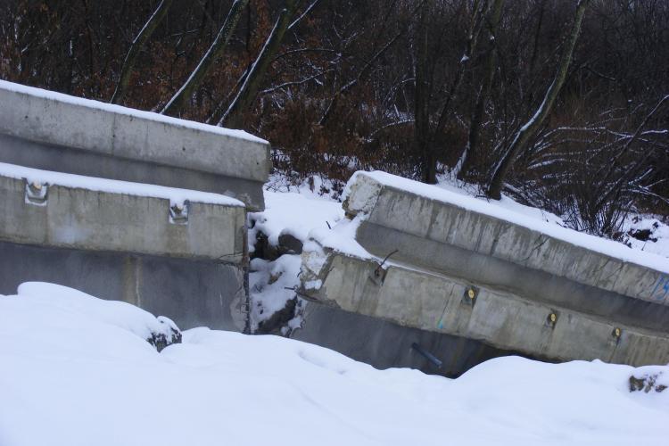 Centura Valcele - Apahida se surpa, iar constructorul maghiar a oprit lucrarile! Vezi o teapa cat CASA