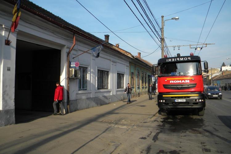 Incendiu la Spitalul de Copii Cluj FOTO