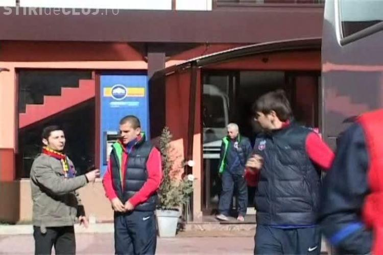 Steaua, asteptata de un singur fan la hotel! Bourceanu, fotograf de ocazie VIDEO