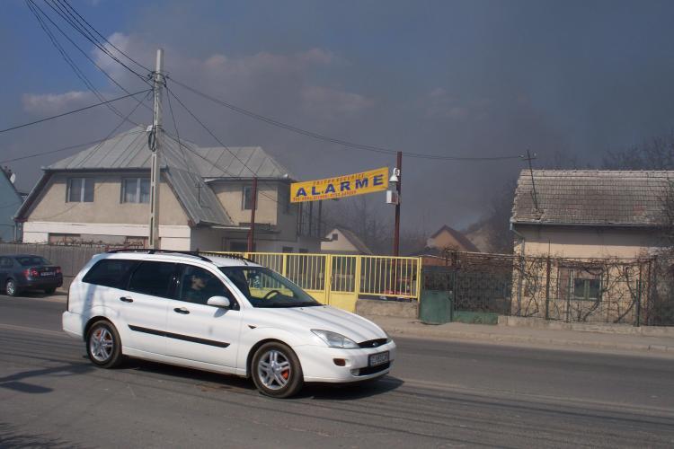 Incendiu in Turda, pe strada Petru Rares FOTO STIREA CITITORULUI