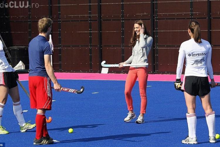 Kate Middleton, in tinuta sport sexy la hochei! FOTO