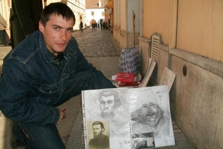 Tanarul care-si castiga existenta de pe o zi pe alta din desene, asaltat de Politia Locala Cluj! FOTO