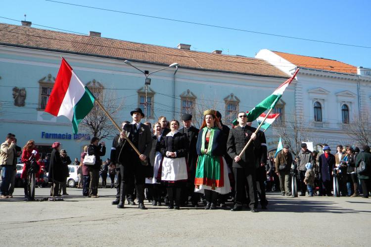 Ziua Maghiarilor la Cluj, 15 martie: Sute de oameni au participat la manifestari VEZI filmul evenimentelor VIDEO