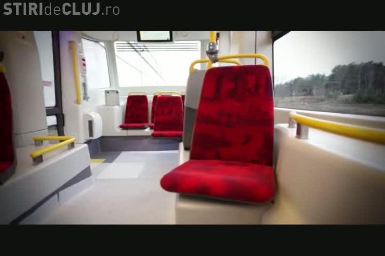Cum arata noile tramvaie ce vor circula in Cluj-Napoca! Patru garnituri de culoare MOV vor fi livrate pana in 31 mai