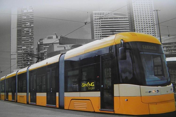 Ce culoare ar trebui sa aiba noile tramvaie din Cluj! Producatorul a propus culoarea MOV