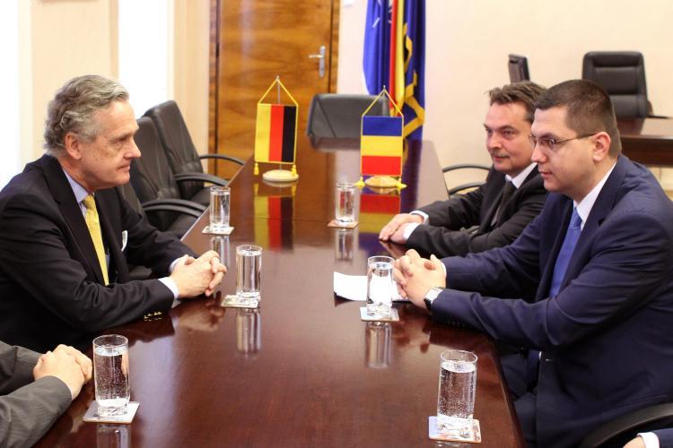 Ambasadorul Germaniei, in vizita la Primaria Cluj-Napoca! Moisin l-a invitat la Zilele Clujului