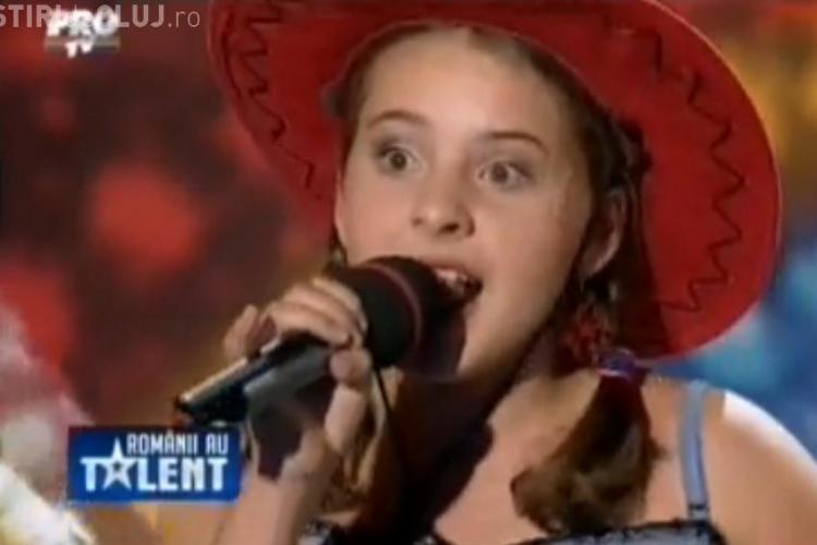 Maria Ilinca Bacila, clujeanca de 13 ani, care l-a emotionat pe Mihai Petre VIDEO