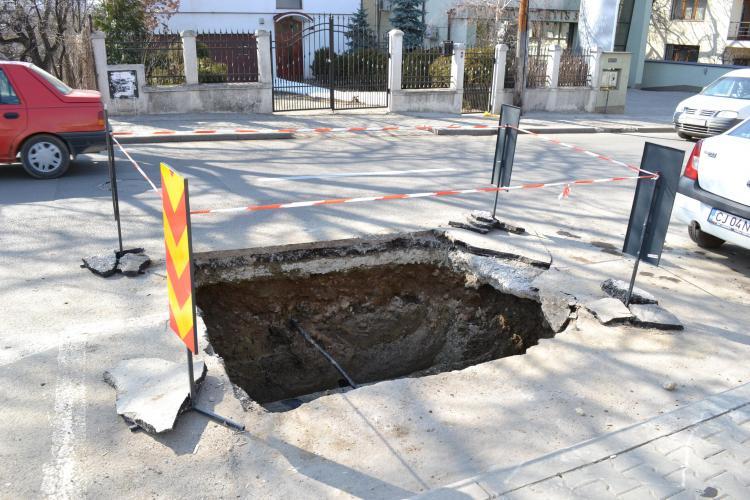 Motivul ABERANT pentru care nu sunt astupate zecile de gropi sapate de E-ON Gaz in Cluj-Napoca! Nu-l veti ghici niciodata