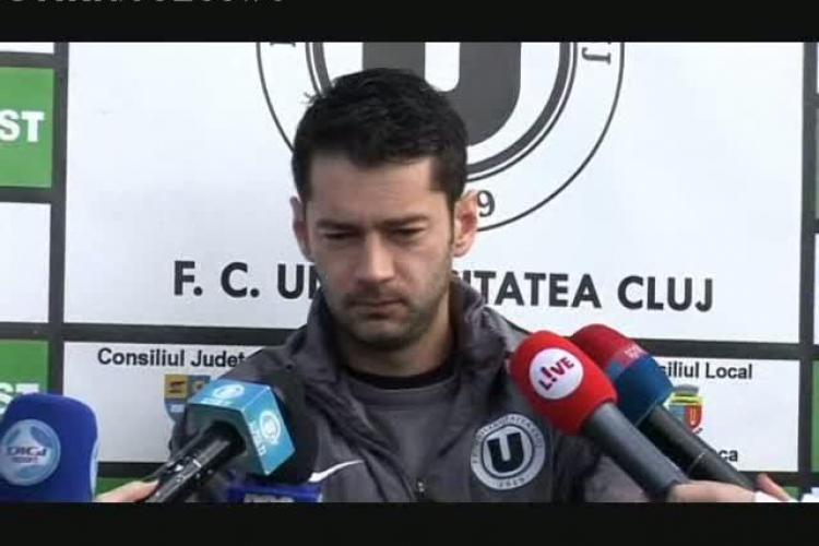 Alex Pacurar, despre U Cluj - Targu Mures: Despre noi nu se vorbeste de blaturi VIDEO - VEZI TOT ce a spus