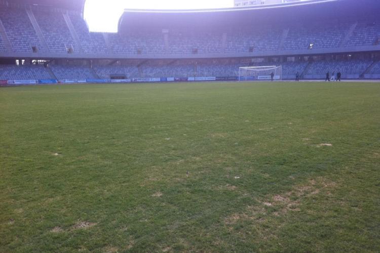 """Gazonul de pe Cluj Arena e """"praf"""", dar va fi """"perfect"""" pentru meciul cu CFR Cluj, din luna mai"""
