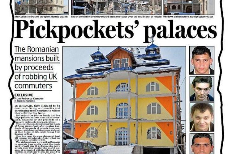 Ei sunt tiganii din Huedin care fura Anglia! Afara traiesc intr-o saracie lucie, in Romania ridica palate FOTO