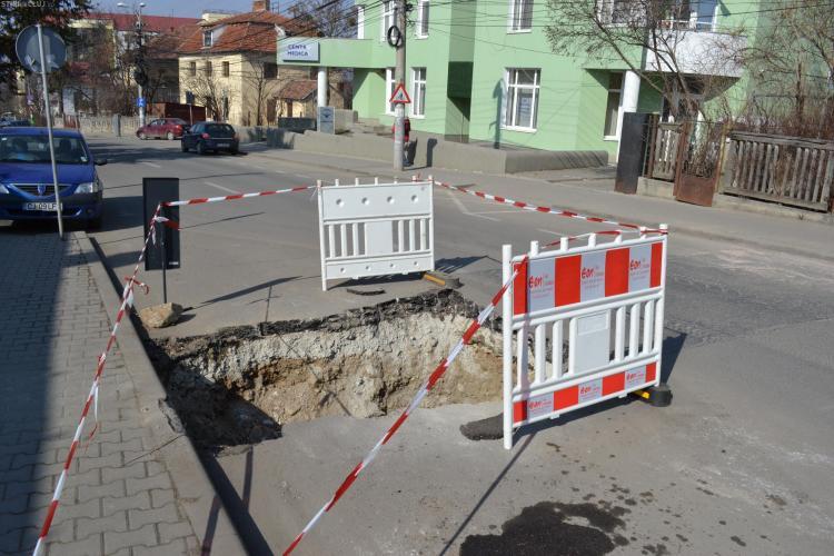 E-ON Gaz se plange ca refacerea sparturilor din Cluj costa foarte mult