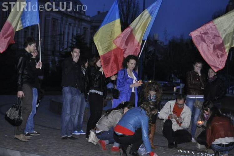 Studentii basarabeni din Cluj au comemorat victimele de la Chisinau din 2009