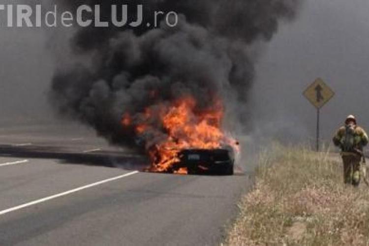 Un Lamborghini a luat foc, in timp ce soferul face o tura de proba pentru a-l cumpara VIDEO