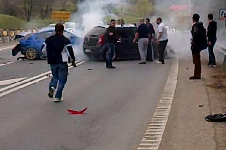 Accident pe Feleac. Mai multe persoane sunt ranite VIDEO