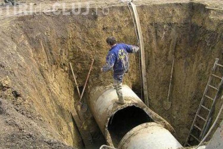 Magistrala de apa care alimenteaza nordul Clujului, sparta de muncitorii de la Electromontaj