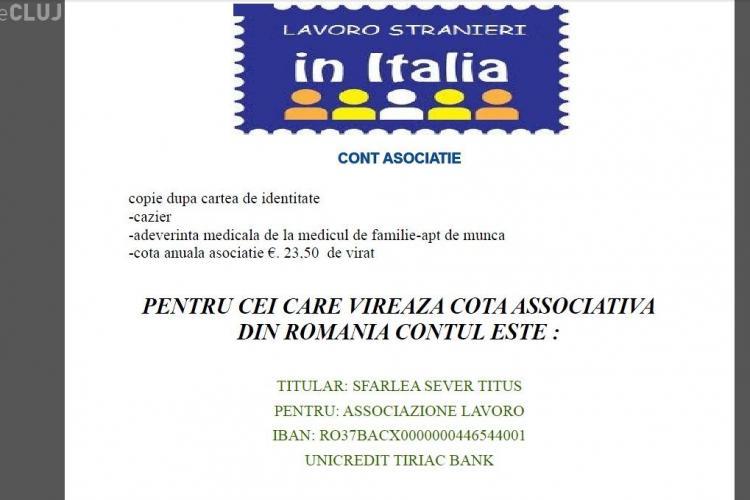 TEAPA cu locuri de munca in Italia se repeta! Asociatia Lavoro Stranieri, condusa de un clujean, insala romanii