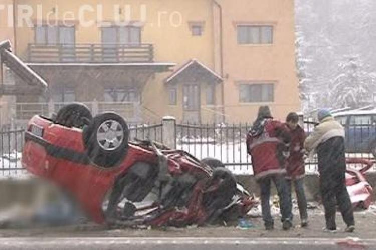 Daune record in accidentul provocat de Serban Huidu