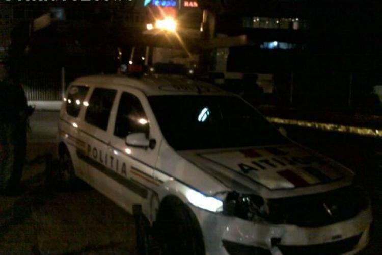 Accident pe strada Fabricii. O masina a Politiei a fost lovita FOTO si VIDEO